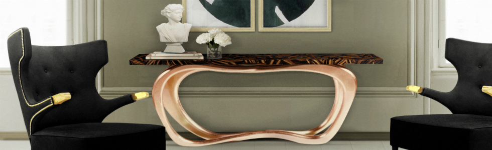 Top 3 Bespoke Brass Console Table For Your Living Room Part 89