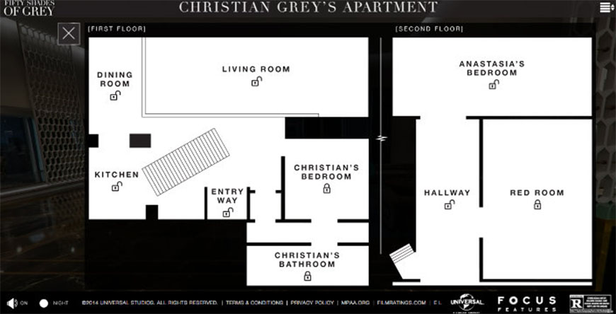 plan appartement christian grey