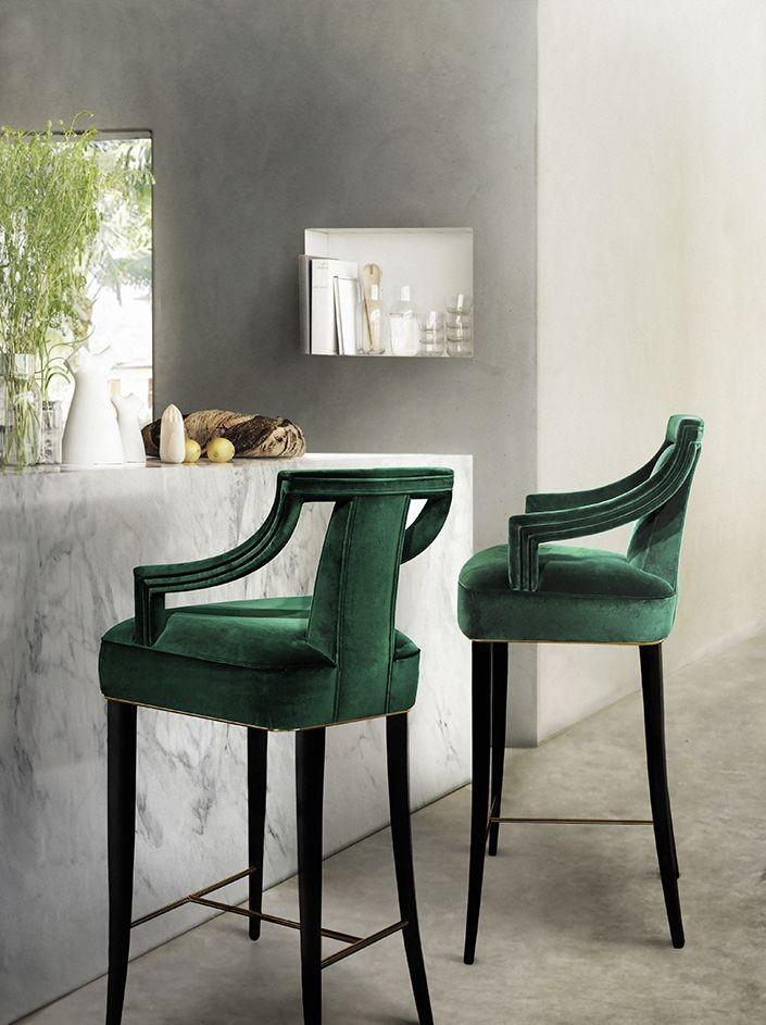 Home Decor Color Trend Emerald Green 1