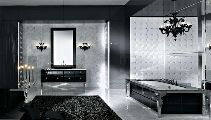 Luxury Bathroom With Black Cabinets