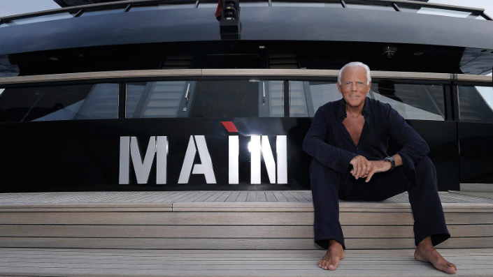 Jaw-dropping - the interior of Giorgio Armani's Yacht 1 Jaw-dropping: the interior of Giorgio Armani's Yacht Jaw-dropping: the interior of Giorgio Armani's Yacht Jaw dropping the interior of Giorgio Armanis Yacht 1