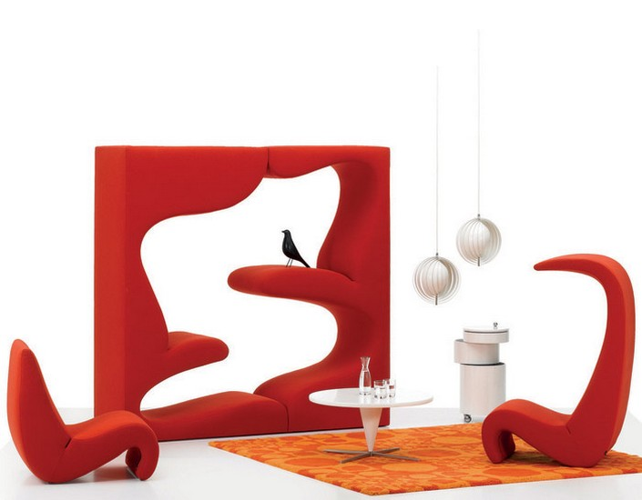 20th century famous designers vernon panton for Famous furniture designers