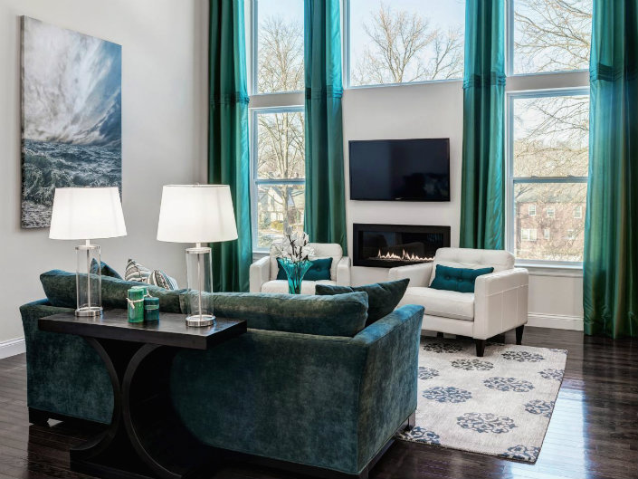 Room Furniture In Turquoise Brabbu, Grey And Turquoise Living Room