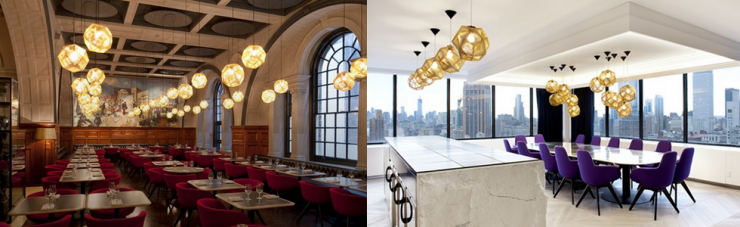 Top 5 Projects with contemporary lighting by Tom Dixon