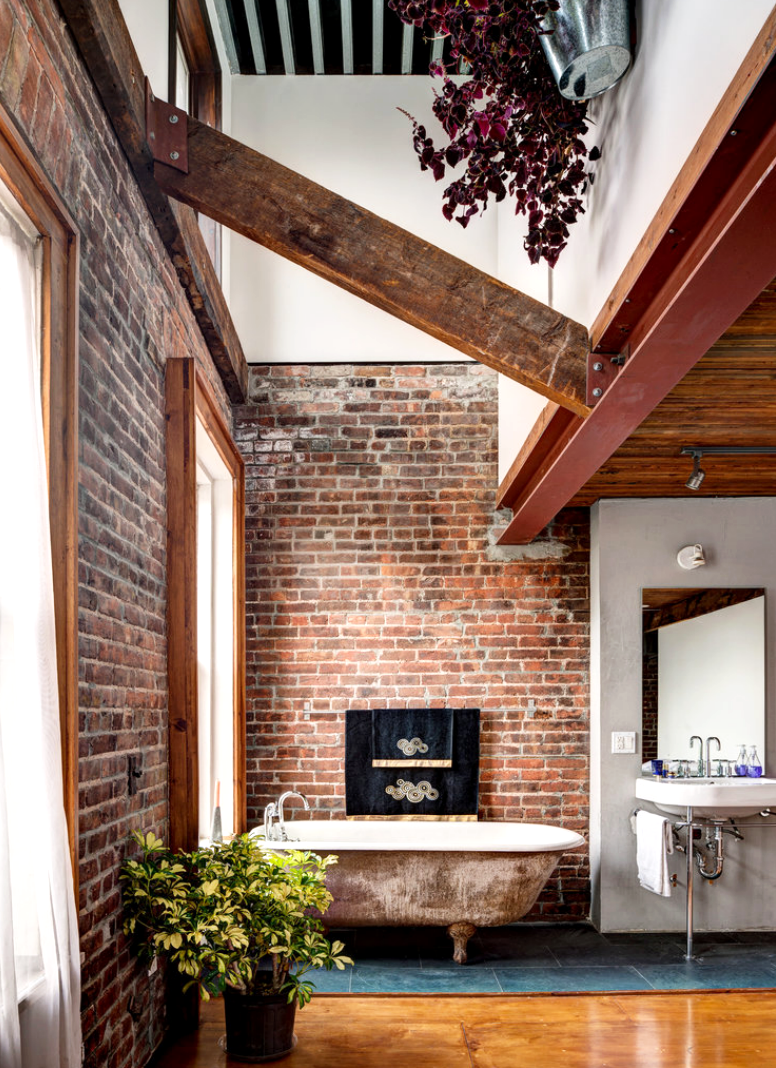 Get an industrial style home by using exposed brick walls industrial style home Get an industrial style home by using exposed brick walls 1