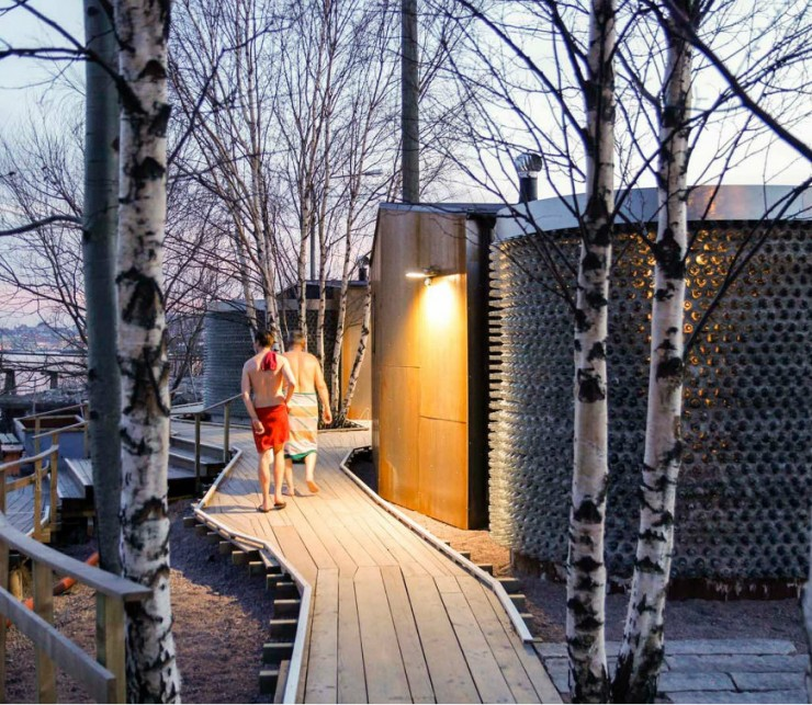 This is a sauna in Gothenburg