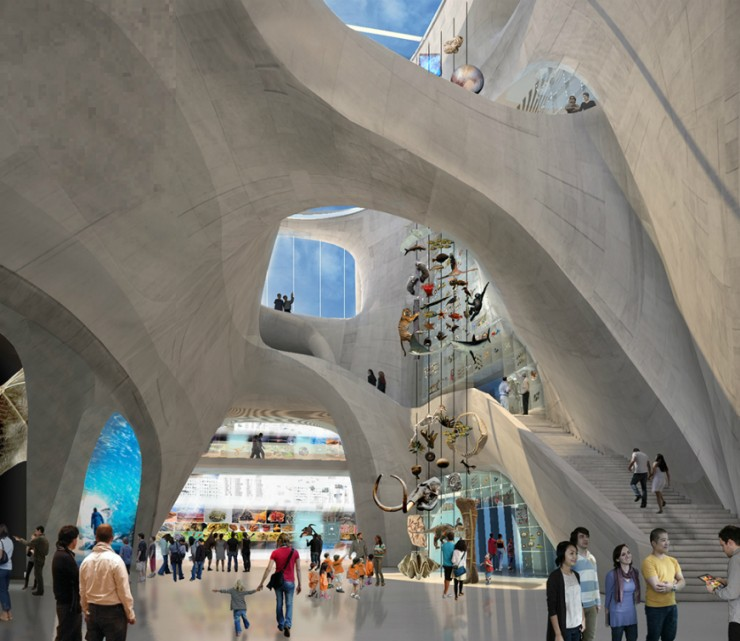 Studio Gang, Museum of Natural History, New York, architecture, nature inspiration, arches national park, Jeanne Gang, geologically-inspired, innovation