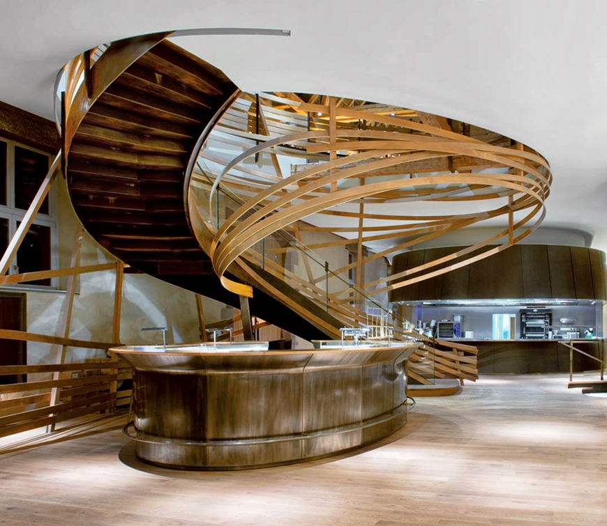 Amazing stair design at Brasserie les Haras most beautiful restaurants Most beautiful restaurants interiors around the world to visit now feature2