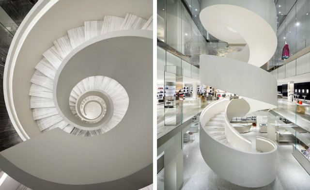 4. Spiral Staircase Barneys New York shopping in new york Shopping in New York: visit new Barneys flagship store 3