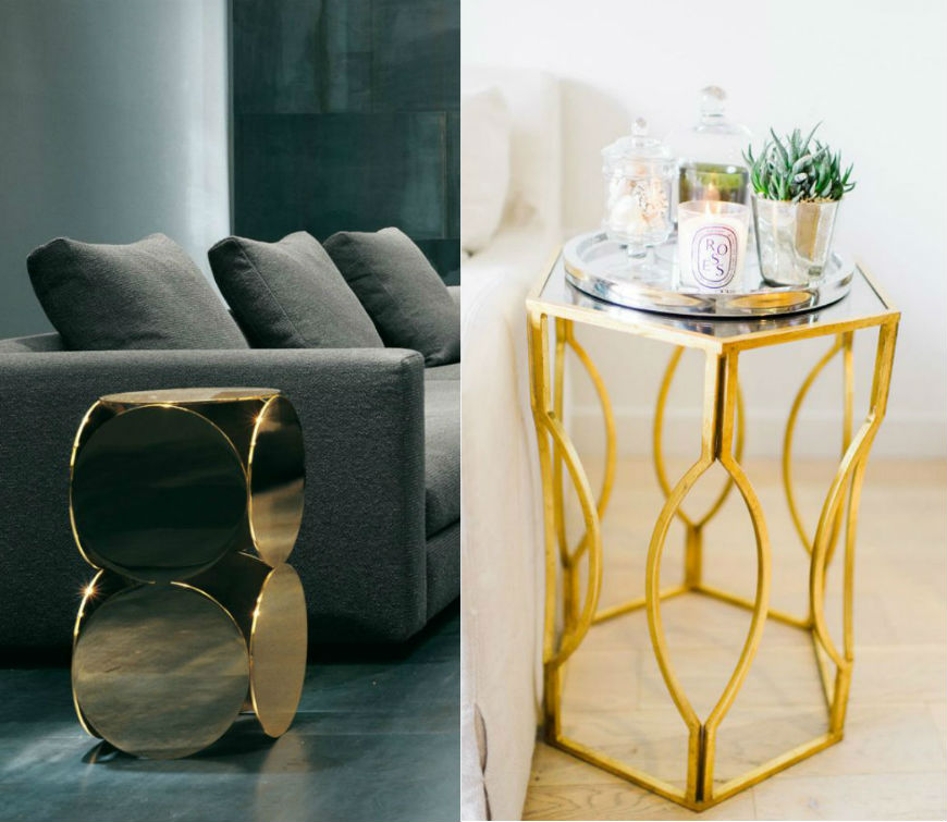 gold side tables gold side tables Hotel Furniture 2016 Trends: Top 5 Gold Side Tables Ideas 43