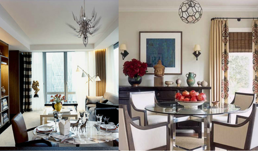 dining room interior design with modern dining tables