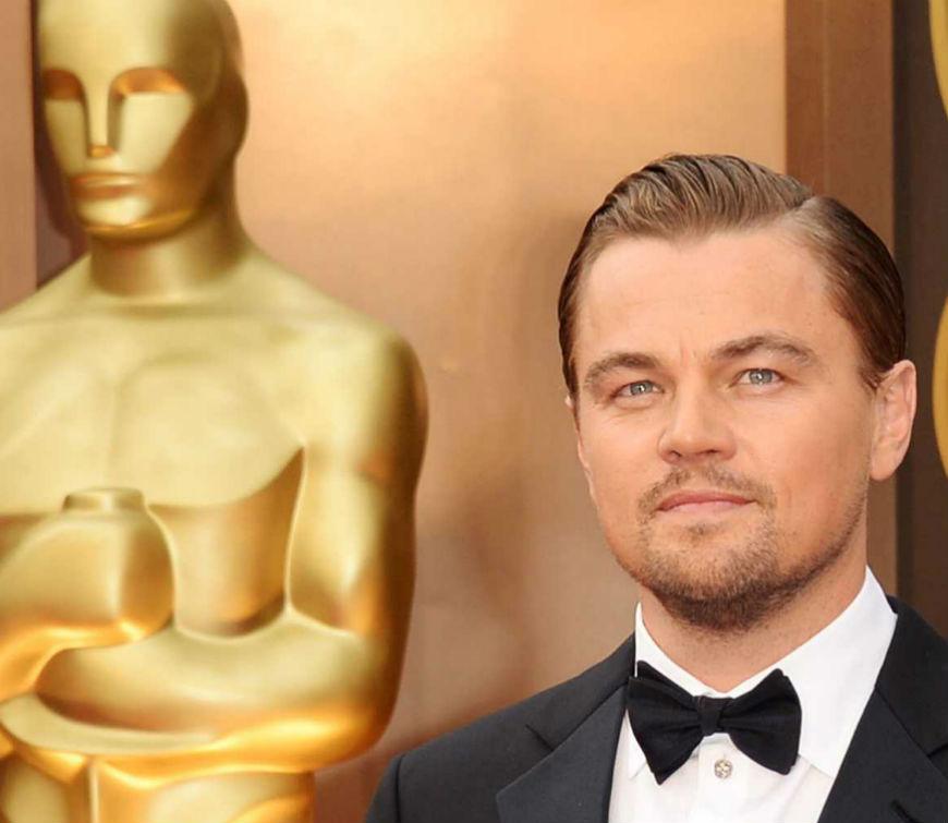 Oscars 2016 Leonardo Dicaprio Wins Best Actor Award with The Revenant cover