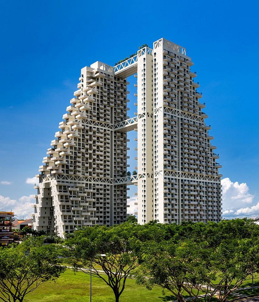 Arch2O-Sky-Habitat-Moshe-Safdie-01 modern architecture Modern Architecture: Fabulous Pool on Singapore's Sky Arch2O Sky Habitat Moshe Safdie 01