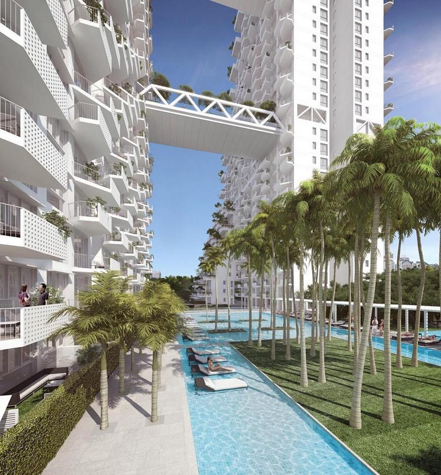 Modern Architecture: Fabulous Pool on Singapore's Sky  modern architecture Modern Architecture: Fabulous Pool on Singapore's Sky sky habitat island pool