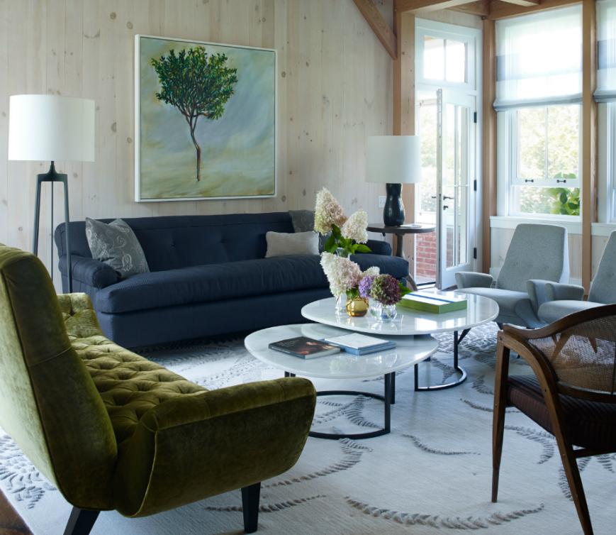 Spectacular Living Room Ideas by Ike Kligerman Barkley Hamptons Home CAPA