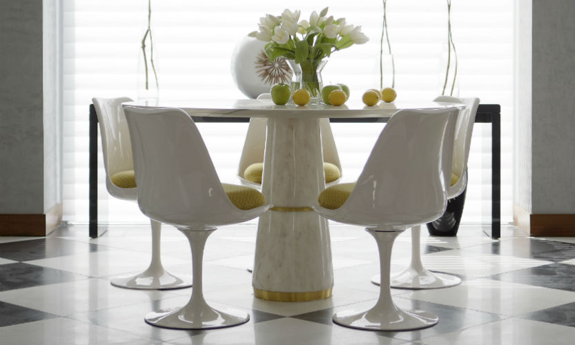 20 Striking Dining Room Tables That Will Take Your Neighbors' Attention