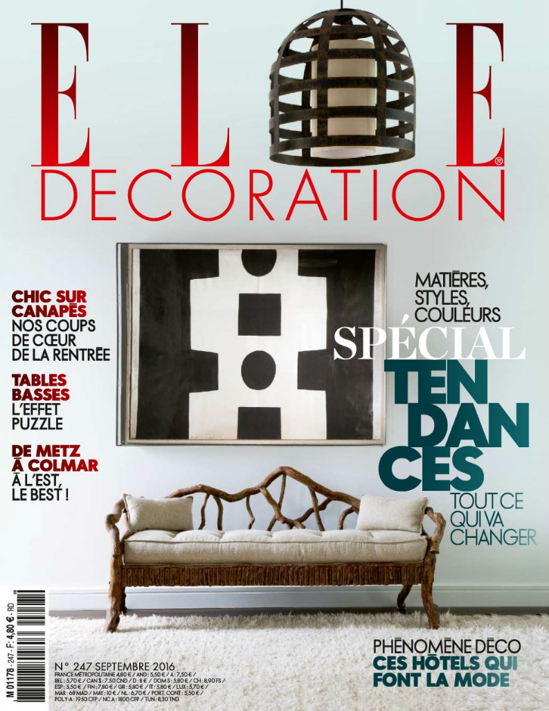 ELLE Décoration Septembre best interior design magazines Best Interior Design Magazines: 5 Editions Of ELLE Décoration ELLE D  coration Septembre