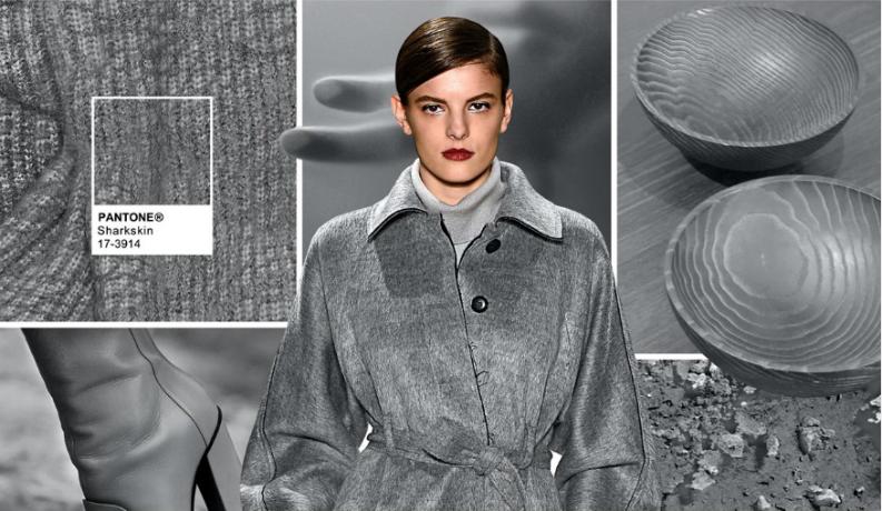 Pantone fashion colour: fabrics for fall 2016: Sharkskin – Pantone 17-3914