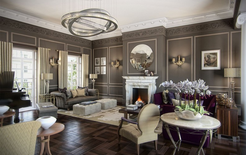Great interiors by René rené dekker 5 Remarkable Interior Design Projects by René Dekker Design Belgravia Town House1