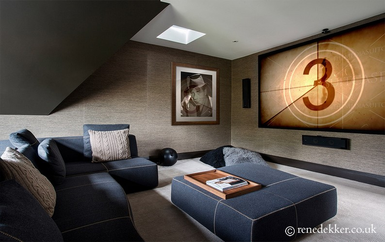 Great interiors by René rené dekker 5 Remarkable Interior Design Projects by René Dekker Design Hampstead house designed home cinema