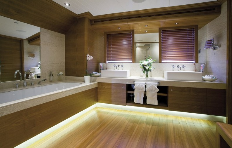 luxury living room luxury yacht interiors 5 Stunning Luxury Yacht Interiors by H2 Yacht Design VaBene bathroom 780x499
