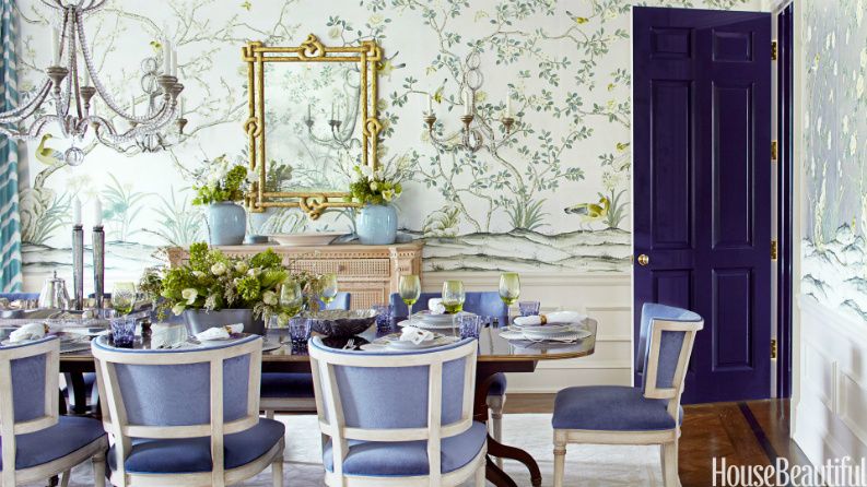 7 Amazing Dining Room Ideas In House Beautiful That You Will Love (6) dining room ideas 7 Amazing Dining Room Ideas In House Beautiful That You Will Love Expansive Vinyl asian paints home front pic gallery Area Rugs Table Lamps Bronze Woodland Imports Modern Silk