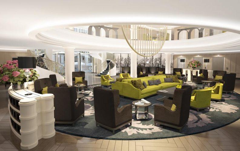 Exquisite Sofitel Hotel Design in Frankfurt Featuring BRABBU hotel design Exquisite Sofitel Hotel Design in Frankfurt Featuring BRABBU Hotel Lobby e1479722969114