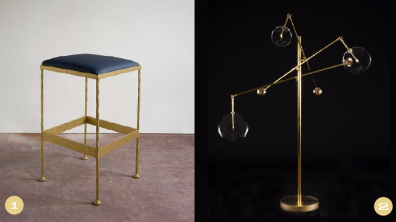 Preview of the High Point Market Style Spotters for Spring 2017 Preview of the High Point Market Style Spotters for Spring 2017 Preview of the High Point Market Style Spotters for Spring 2017 vanCollier Brass Barstool