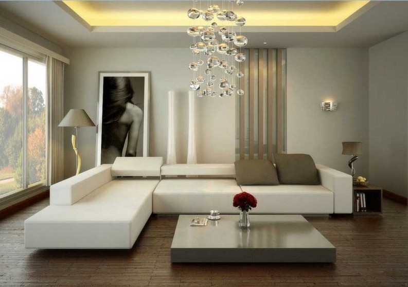 Modern living room for small living rooms modern home design interior with decorating ceiling lighting design plus modern ceiling lamp modern wall designs and sectional sofa - View Small Space Living Room Small House False Ceiling Ceiling Designs Pictures