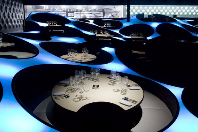 10 Incredible Restaurant Interior Design Projects Around The World #interiordesign #restaurantdesign #designinspiration  10 Incredible Restaurant Interior Design Projects Around The World Blue Frog Lounge Mumbai India