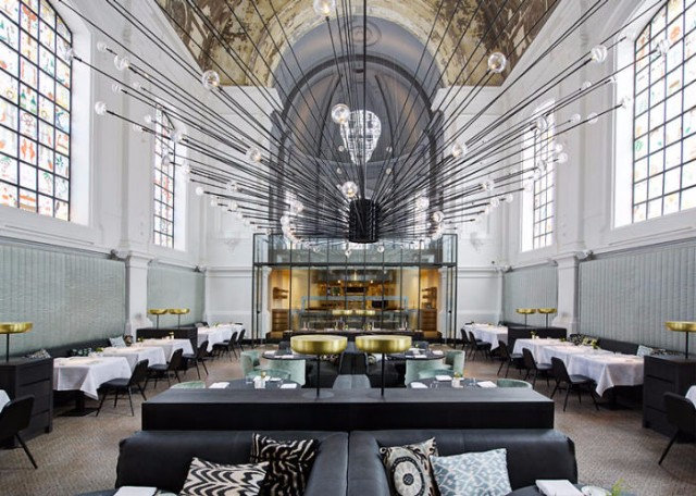 10 Incredible Restaurant Interior Design Projects Around The World #interiordesign #restaurantdesign #designinspiration  10 Incredible Restaurant Interior Design Projects Around The World The Jane Restaurant In A Renovated Church Antwerp Belgium