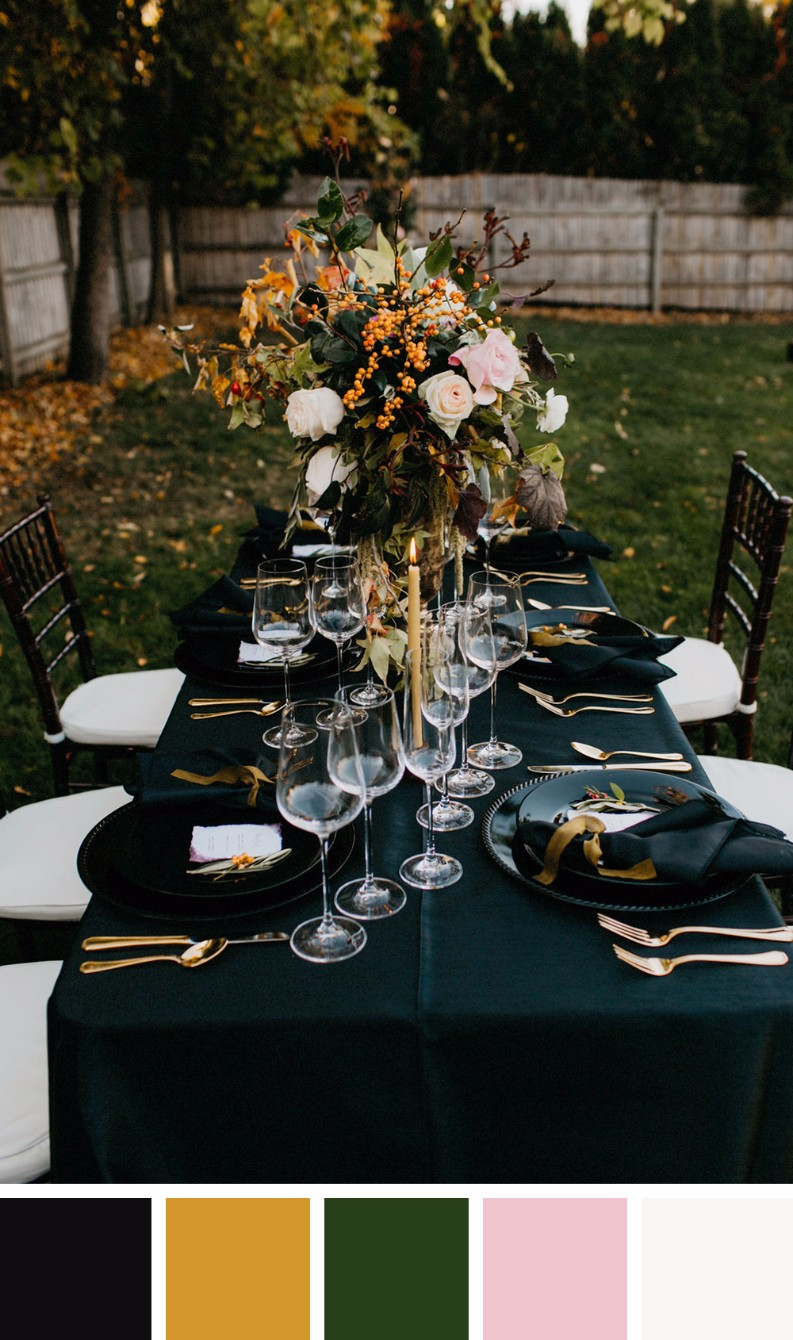 7 Gorgeous Fall Wedding Colours For Your Dining Room