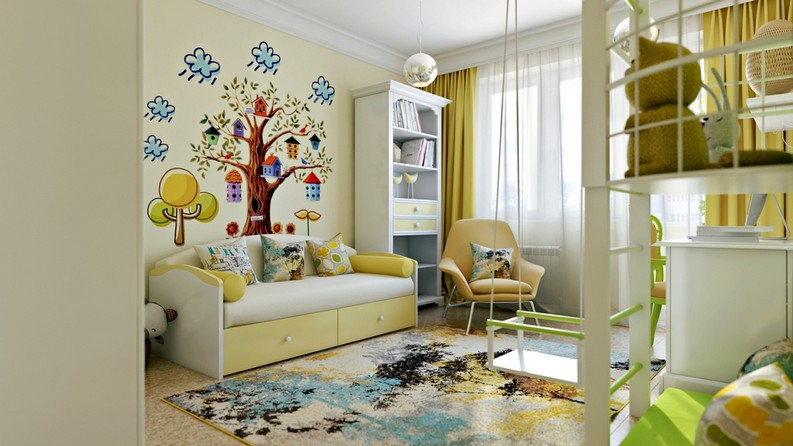 7 Funny and Chic Kid's Room Modern Interior Design To Die For modern interior design 7 Funny and Chic Kid's Room Modern Interior Design To Die For yellow kids room