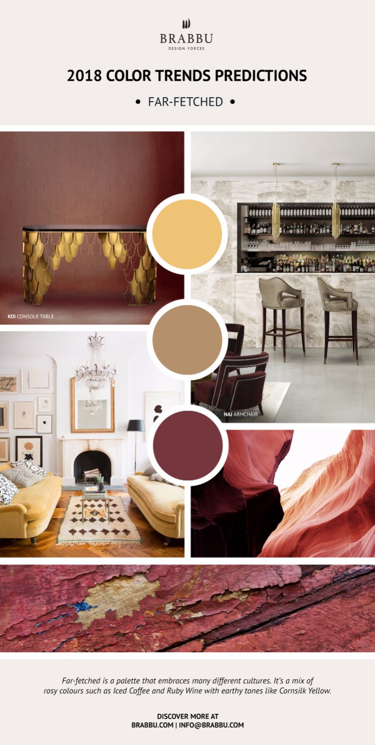 2018 Color Predictions: the design trend guide you must-see. 2018 Color Trends. Interior Design Trends. Modern Interior Design. #2018colortrends #moderninteriordesign #homedecor. Meet BRABBU's Colorful world of inspirations: goo.gl/ZdXND6 2018 color trends 2018 Color Trends Predictions: the design trend guide you must-see Discretion 7