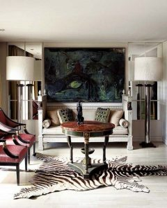 The best rug selection for your living room design for Living room ideas with zebra rug