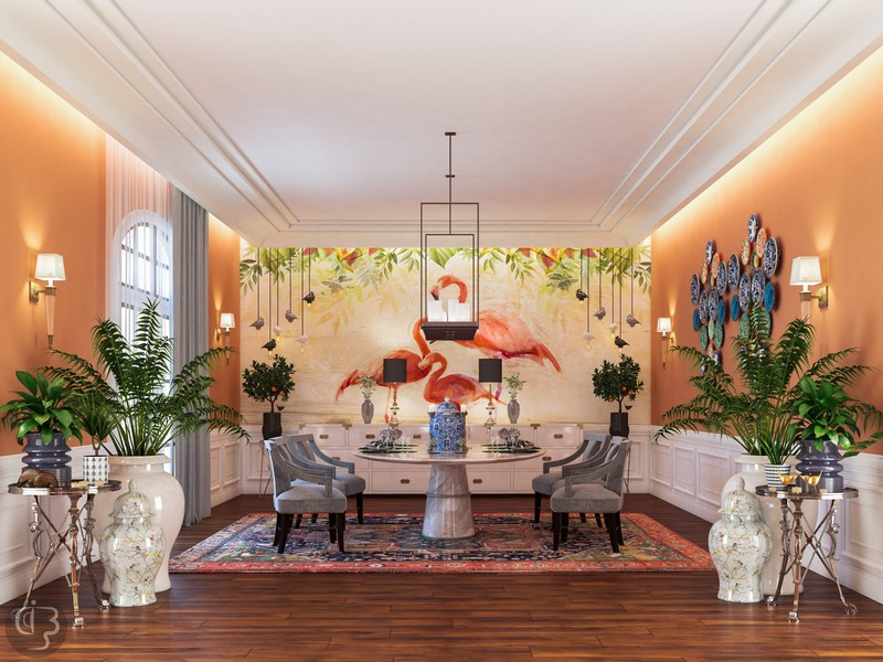 The Eclectic Interior Design Project by Boshrainteriors Studio | Featuring BRABBU interior design project The Eclectic Interior Design Project by Boshrainteriors Studio dining room by boshrainteriors 1