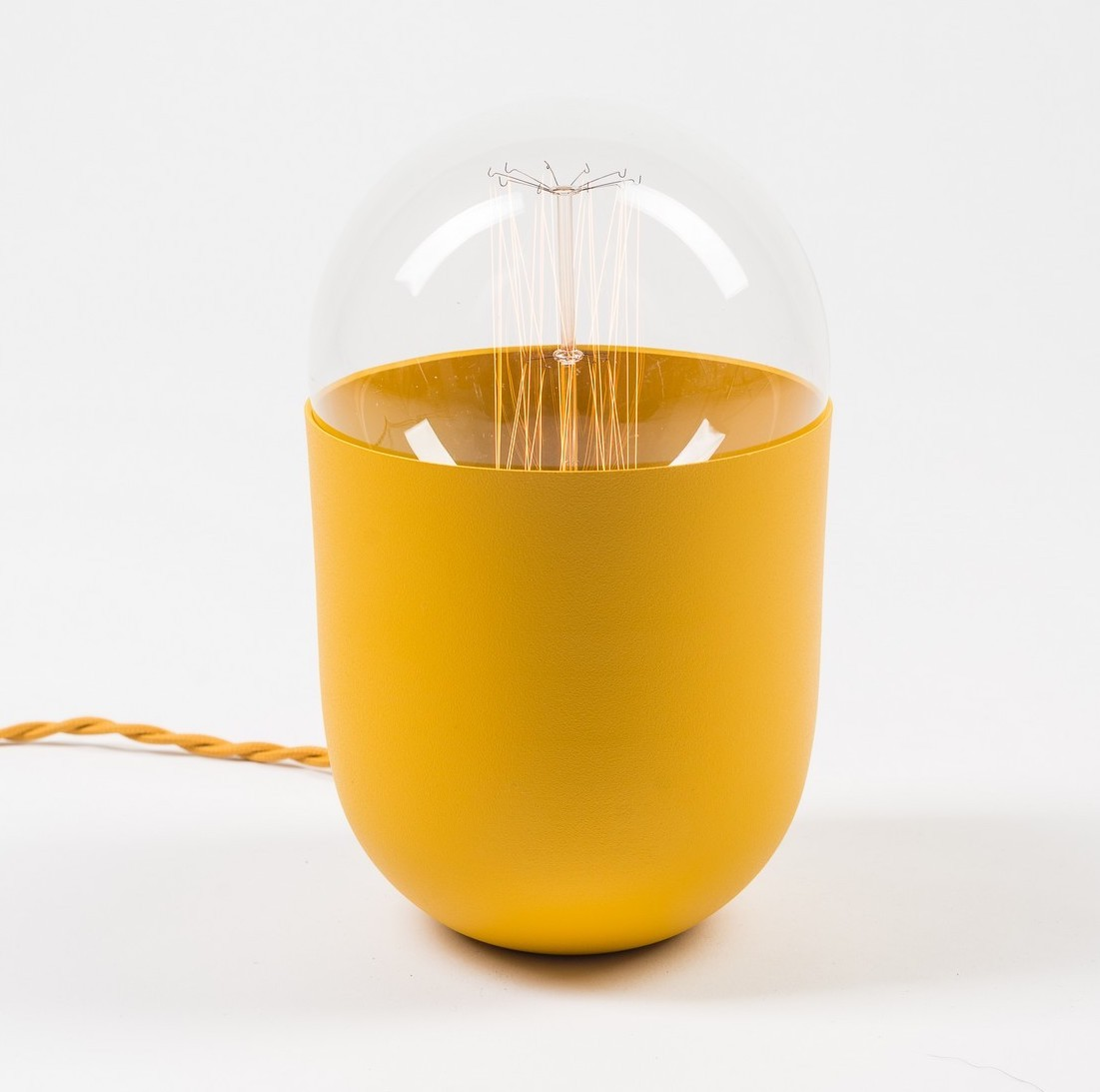 French design - Mickael Koska french design 6 Rising Stars of the French Design You Must Know lampe coco color moutarde mickael koska