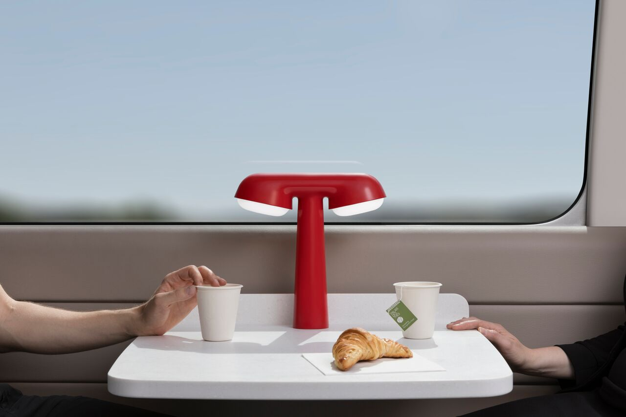 French design - Ionna Vautrin french design 6 Rising Stars of the French Design You Must Know red tgv lamp by ionna vautrin for moustache 2018 2