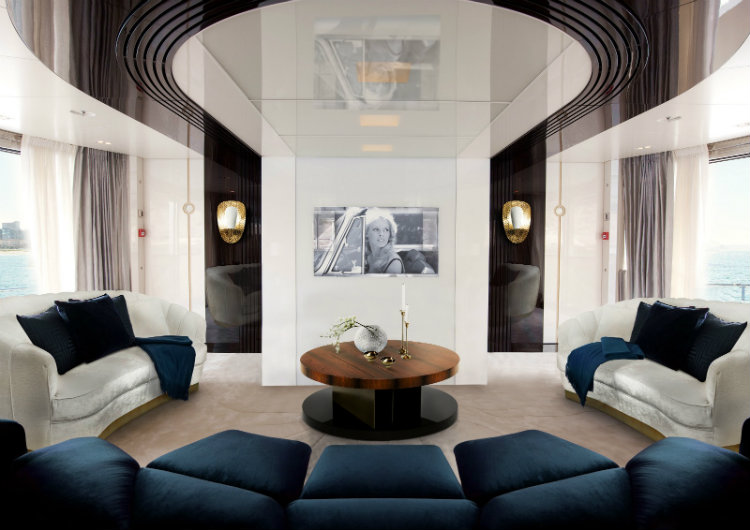 interior design Hot Spot in Cruise Interior Design: Branson's new line Virgin Voyages Design de Interior yacht 1
