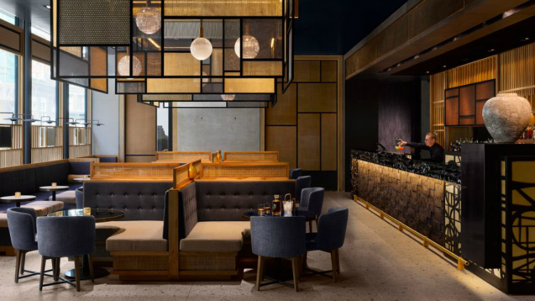 dezeen awards Interiors shortlist: Dezeen Awards 2018 Nobu Hotel Shoreditch by Studio Mica 2