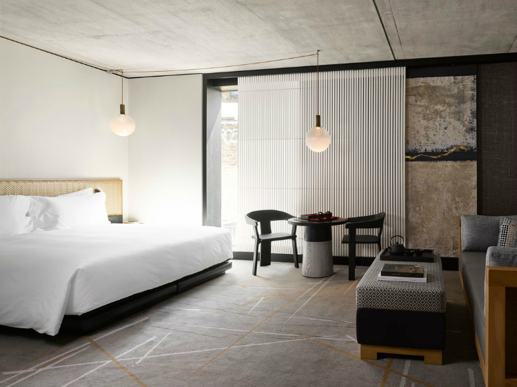 dezeen awards Interiors shortlist: Dezeen Awards 2018 Nobu Hotel Shoreditch by Studio Mica