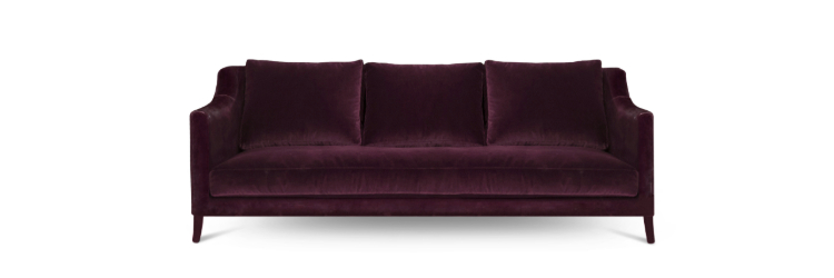 2019 interior design trends 2019 Interior Design Trends: Cassis Color COMO Sofa by BRABBU 1