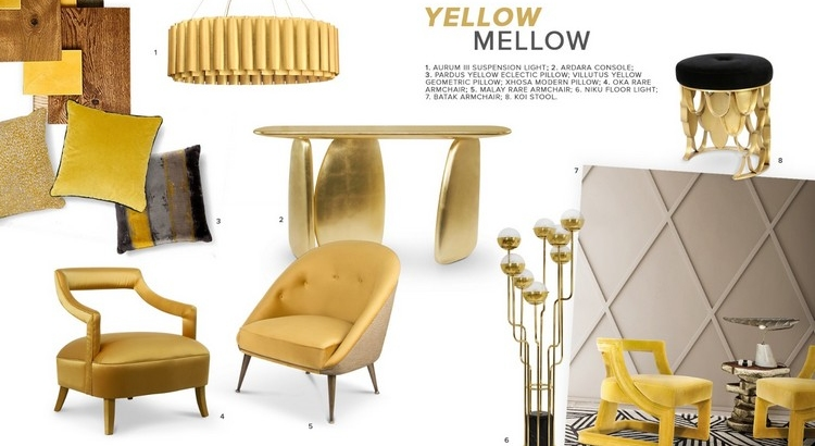 2019 interior design trends Melt Away With This Yellow Mellow: 2019 Interior Design Trends Moodboard Yellow Mellow