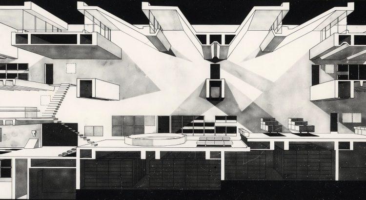 arata isozaki ARATA ISOZAKI – PRITZKER PRIZE 2019 11 Section perspective1 Oita Prefectural Library 1966 750x410