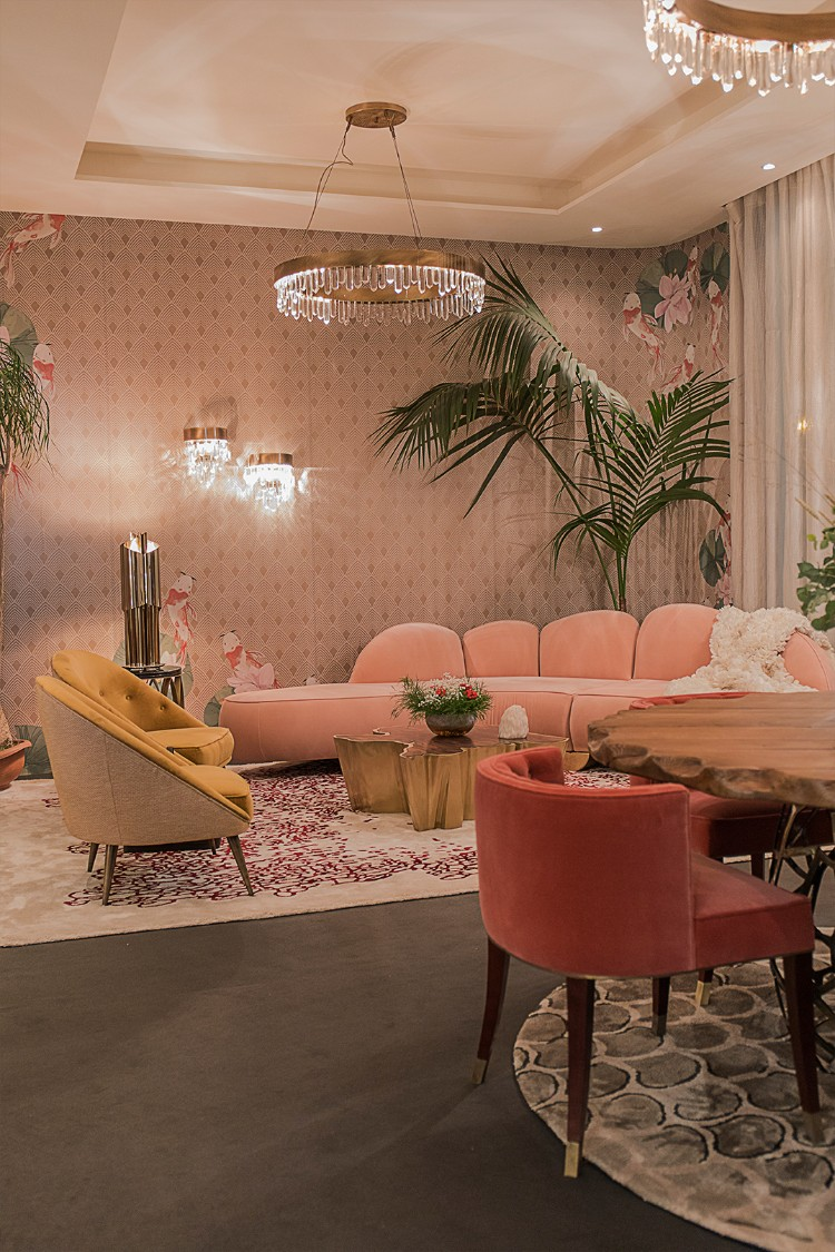 trend trend Top 7 Interior Design Trends of 2019 Fitzroy Sofa BRABBU New Product Setting Trend at Maison et Objet 1