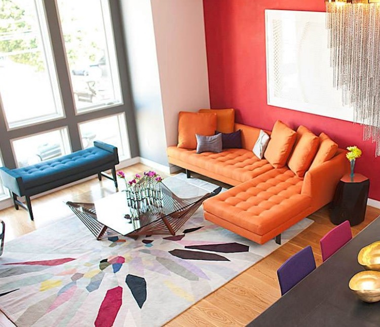 trend trend Top 7 Interior Design Trends of 2019 bold accent color 1
