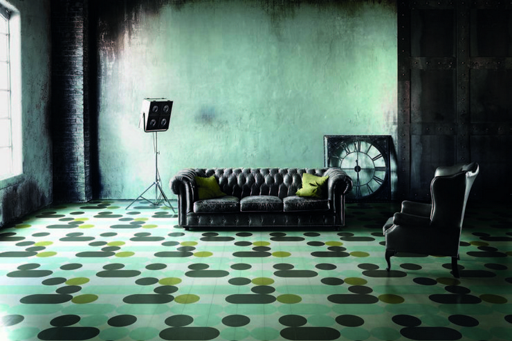 india mahdavi Best Interior Design Projects by India Mahdavi 19 India Mahdavi Bisazza Cementiles