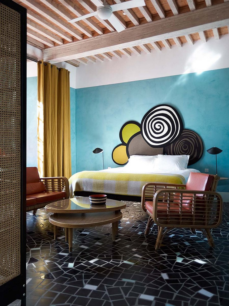 india mahdavi Best Interior Design Projects by India Mahdavi 4 India Mahdavi Le Cloitre Hotel