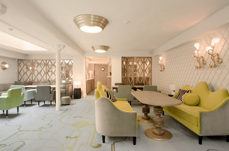 india mahdavi Best Interior Design Projects by India Mahdavi 5 India Mahdavi  H  tel Thoumieux