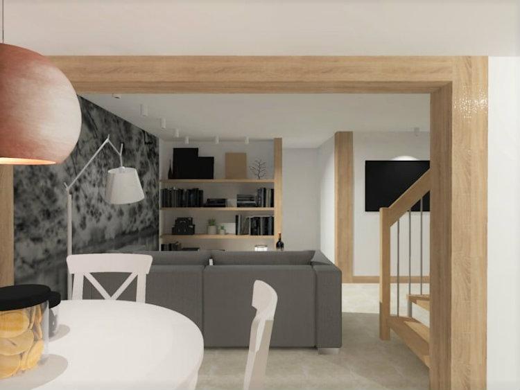 Bianco Nero Design - Basement Adaptation for an Apartment bianco nero design Bianco Nero Design: Design Aesthetics Bianco Nero Design Basement Adaptation for an Apartment